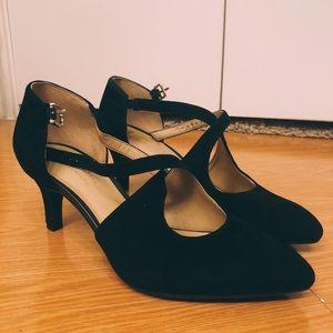 Naturalizer Black Suede Heels